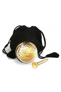 Display Golf Ball & Tee Set 24 Karat Gold-Dipped