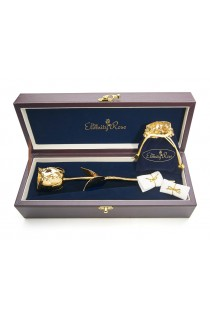 Gold Rose & White Leaf Theme Jewellery Set