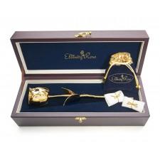 Gold Rose & Blue Leaf Theme Jewellery Set