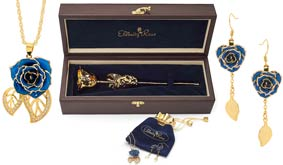 Gold Rose & Jewelry Sets